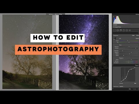 How To EDIT Astrophotography // Starry Landscape Stacker // Lightroom