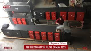 Elektrostatik Filtre Duman Testi Video