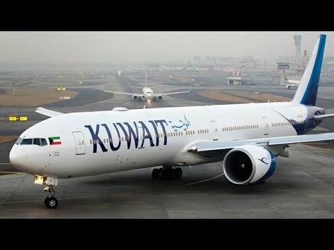 Flight take off from Kuwait international airport