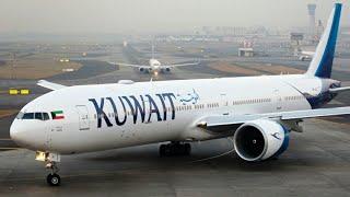 Flight take off from Kuwait international airport