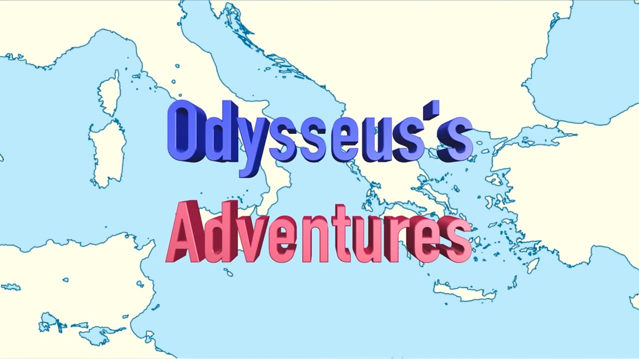 Odysseus's Long Journey from Troy To Ithaca - Animated Map on map voyage of aeneas, map of ulysses voyage, map of christopher columbus voyage, map odysseus voyage home, map of pilgrims voyage,