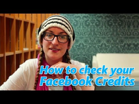 How to Check Your Facebook Credits - Tutorial