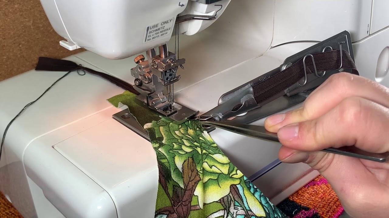 ¿Como usar la guia de collareta para coser lenceria?