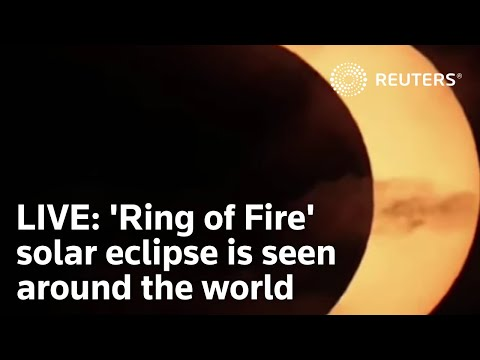 LIVE: 'Ring of Fire' solar eclipse is seen around the world
