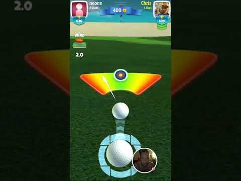 Golf clash 60 yard slam dunker over the bunker