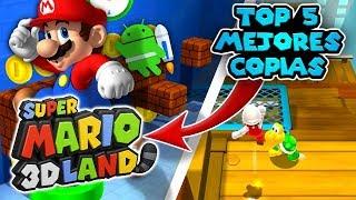 Top 5 Mejores Copias de Mario 3d land Para android! - Juegos dela playstore / chury