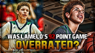 was lamelo ball s 92 point game overrated