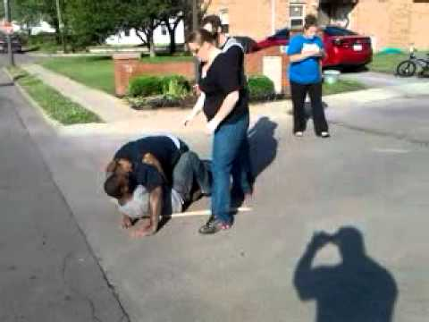 Jus another day in the hood: Fight in east end..