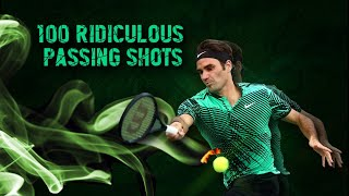 Roger Federer - 100 Ridiculous Passing Shots