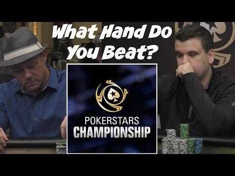 What Hand Do You Beat? 2017 PokerStars Championship Bahamas