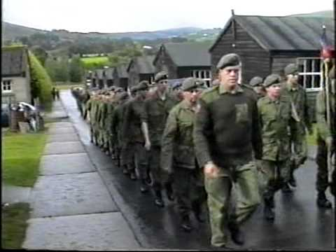 IRISH ARMY RESERVE , 7TH BATALLION, KELLS, FCA, E COY ON PARADE IN THE GLEN OF IMMAL, PART 2