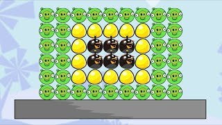 Angry Birds Bomb Hacked 2 - TAKE GOLDEN EGG! THROW OUT PIGGIES TO GROUND!