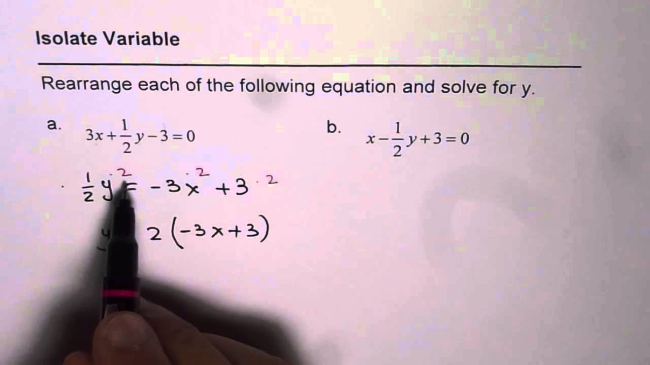 Isolate Variable From Equation With Fractions