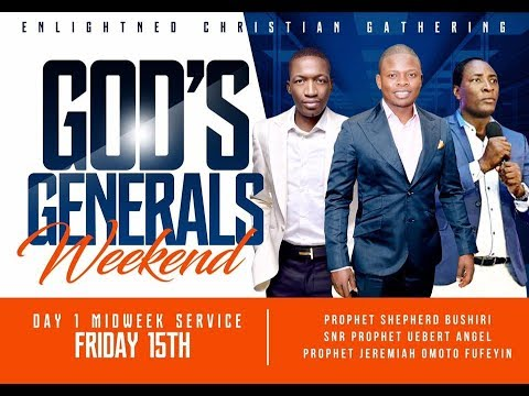 ARRIVAL OF MAJOR 1 AND PROPHET UEBERT ANGEL | GOD'S GENERALS WEEKEND DAY 1