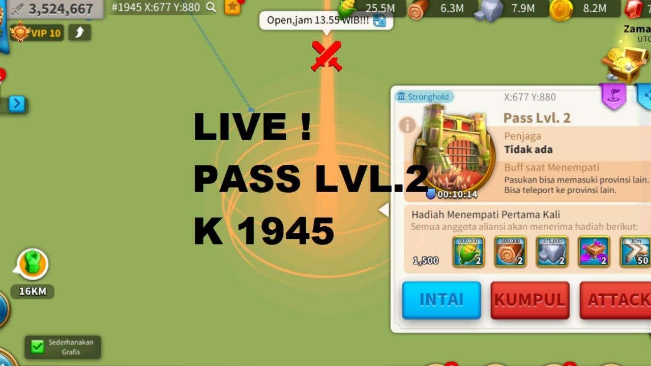 LIVE ! Open pass Lvl.2 K 1945