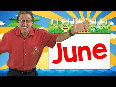 It's the Month of June | Calendar Song for Kids | Jack Hartmann