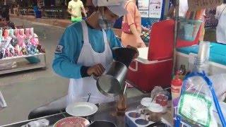Тайский холодный молочный чай за 20 бат. Thai ice tea