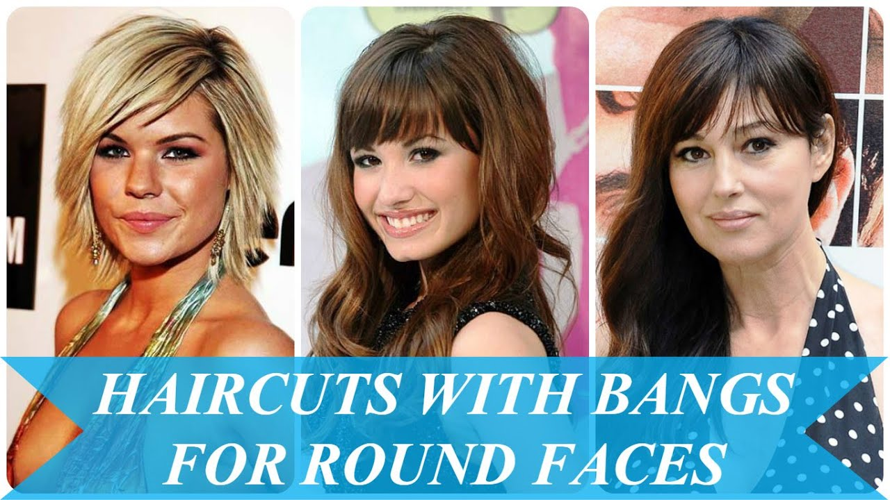Haircuts With Bangs For Round Faces