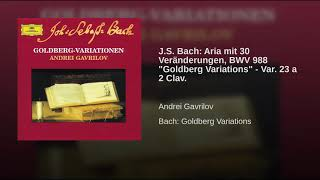 J S  Bach  Aria mit 30 Veränderungen, BWV 988  Goldberg Variations    Var  23 a 2 Clav