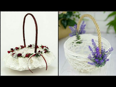 Beautiful Flower Girl Basket/ Weeding Basket Decoration Idea's.