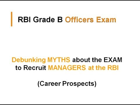 Debunking Myths about RBI grade B exam | Career prospects | RBI | Career Launcher