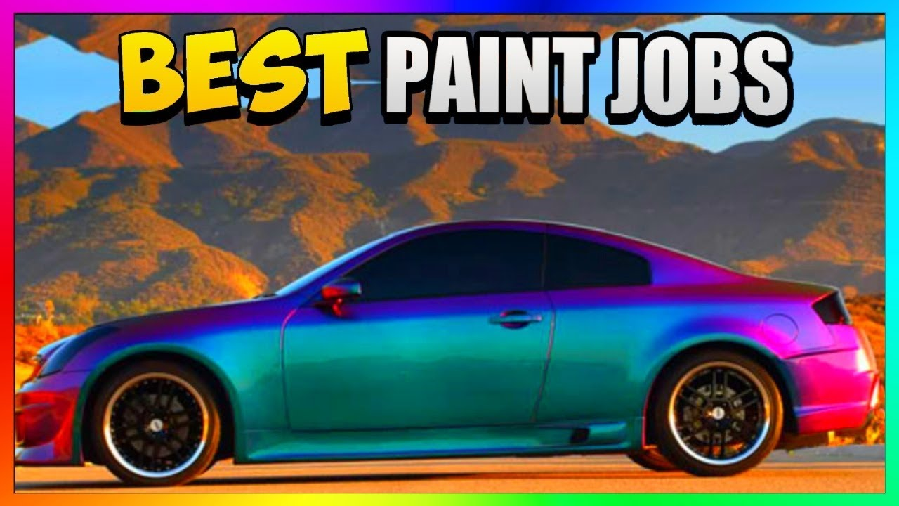Top Three Best Rare Paint Jobs In Gta 5 Online Gta 5 Secret Paint Jobs