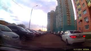 Смотреть видео FHD0196 Москва, 21.10.2017, культура вождения, онлайн