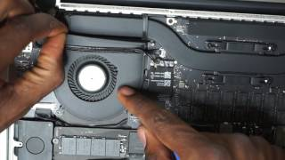 How to replace a fan in the Macbook pro 15inch Retina Display Replacement