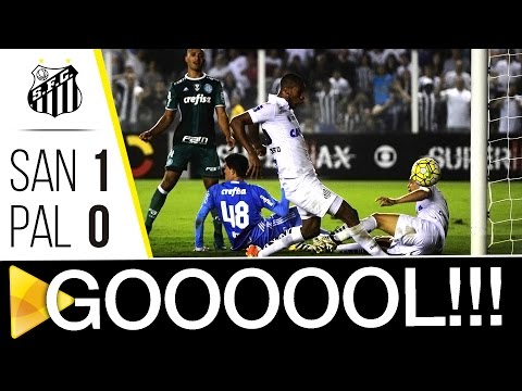 Santos 1 x 0 Palmeiras | GOL | Brasileirão (29/10/16)