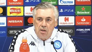Carlo Ancelotti & Raul Albiol Pre-Match Press Conference - Liverpool v Napoli - Champions League
