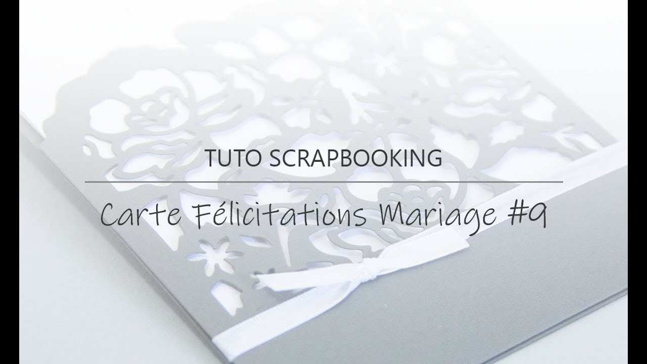 carte de félicitations mariage Tuto] Carte de félicitations mariage #9   YouTube