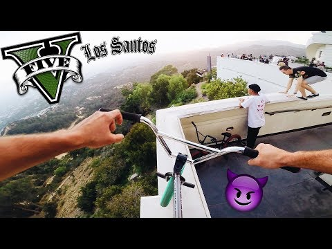 RIDING GTA BMX IN REAL LIFE (THE OBSERVATORY)