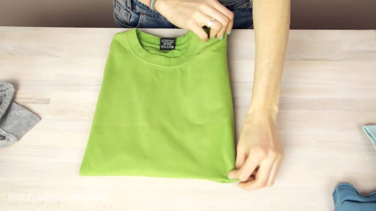 3 Cách gấp áo thun đẹp và nhanh nhất (How to fold a T-shirt like a Pro – 3 ways)