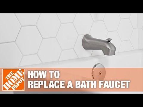 how to replace a bathtub spout the home depot youtube