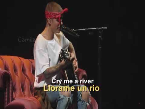 Justin Bieber - Cry Me A River (Live) Sub Español.