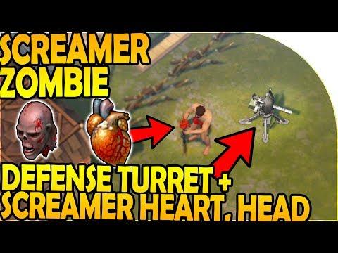 NEW SCREAMER ZOMBIE + HEART + HEAD - DEFENSE TURRET INBOUND- Last Day On Earth Survival 1.7.7 Update