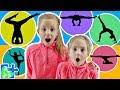 EXTREME YOGA CHALLENGE Big Sister vs Little Sister | Family Yoga Challenge!