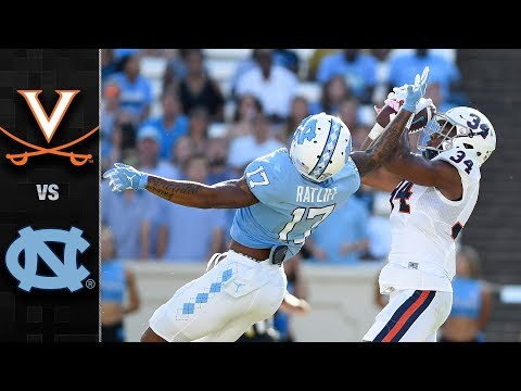 Virginia vs. North Carolina Football Highlights (2017)