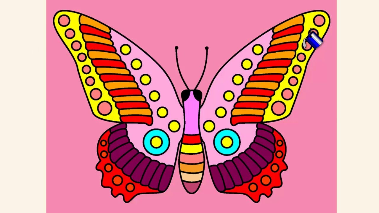 coloring pages for kids butterfly coloring pages youtube
