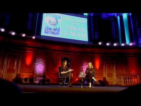 SARAH J MAAS INTERVIEW-Tower Of Dawn Tour London+BOOKTALK