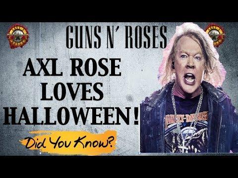 Guns N' Roses True Story: Axl Rose Loves Halloween!