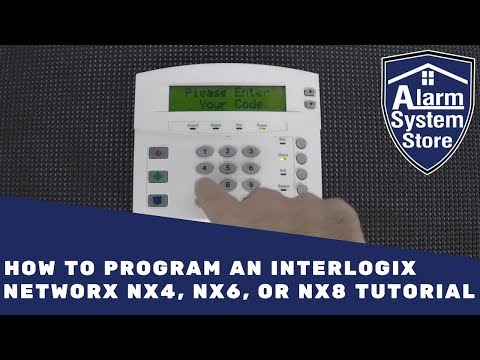 How to Program an Interlogix Networx NX4, NX6, or NX8 Tutorial - Alarm System Store