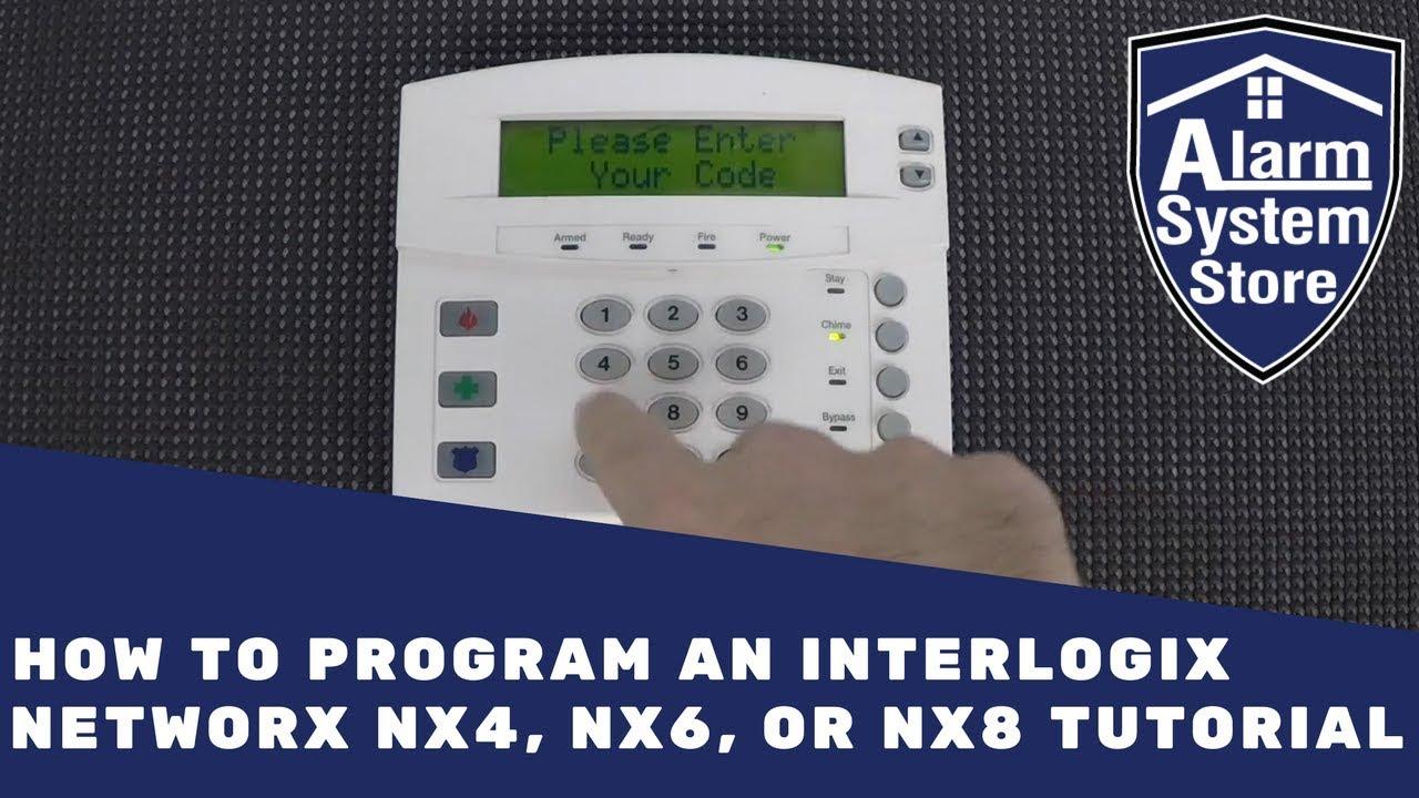 how to program an interlogix networx nx4 nx6 or nx8 tutorial rh youtube com NX-8 Security Panel NX-8 CF