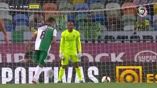 Goal | Golo Bruno Fernandes (g.p.): Sporting (2)-0 Marítimo (Allianz Cup #1)