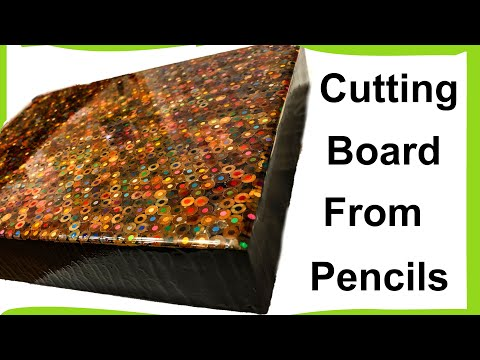 Epoxy and Colored pencil cutting board DIY