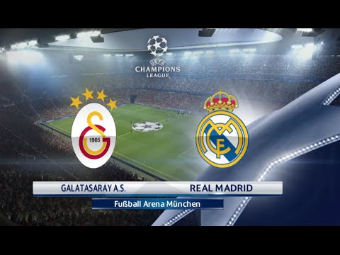 pes 2016  galatasaray vs real madrid  champions league ps4