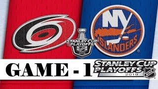 Carolina Hurricanes Vs New York Islanders  Second Round  Game 1  Stanley Cup 2019  Обзор матча