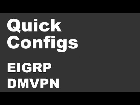 Quick Configs - DMVPN & EIGRP (phase 1, 2, 3, Summarization, Split-horizon, Next-hop-self)