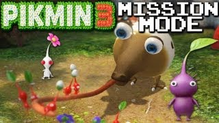 Pikmin 3: Purple & White Piks! - Mission Mode PART 1 (Nintendo Wii U HD Gameplay Walkthrough)