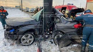 20.01.21.  Ужасная авария (ДТП)  Audi на скорости врезался в столб  Санкт-Петербурге